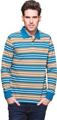 Zovi Striped Men's Polo Neck Multicolor T-Shirt