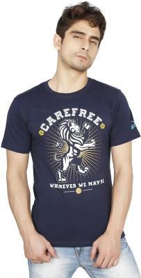 Funatic Sports Printed Men's Round Neck Blue T-Shirt