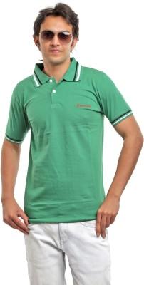 BG69 Solid Men's Polo Green T-Shirt