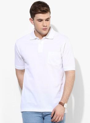 Mundus Vici Solid Men's Polo Neck White T-Shirt