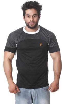Stylar Graphic Print Men's Round Neck Black T-Shirt