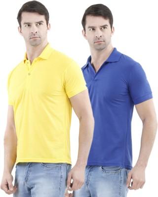 Tej Star Solid Men's Polo Neck Multicolor T-Shirt