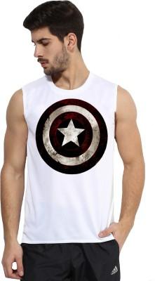 Alpha Scott Solid Men's Round Neck White T-Shirt
