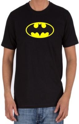 RUKMINI Printed Men's Round Neck Black T-Shirt