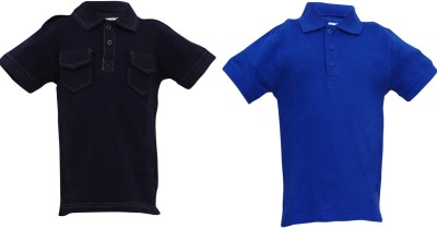 Most Wanted Solid Boy's Polo Neck Multicolor T-Shirt