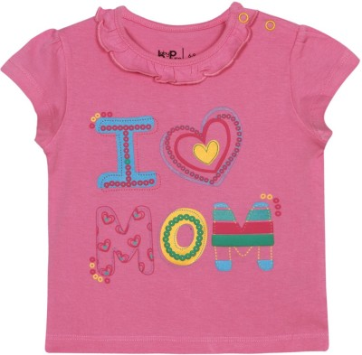 Baby Pure Printed Baby Girl's Round Neck T-Shirt