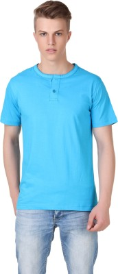 Aventura Outfitters Solid Men's Henley Blue T-Shirt