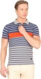 Taanz Striped Men's Polo T-Shirt
