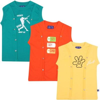 SPN Garments Printed Girl,s Round Neck Black, Orange, Yellow T-Shirt