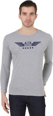 Konners Printed Men's Round Neck Grey T-Shirt
