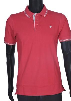Bib & Tucker Solid Men's Polo Neck Red T-Shirt