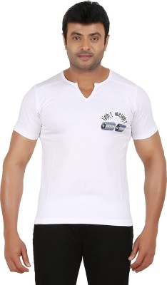 Ronnie Coleman Clothing Printed Men's Henley White T-Shirt