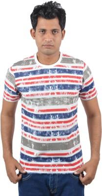 Josh Button Solid Men's Round Neck White T-Shirt