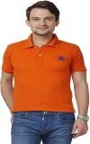 ABLOOM Solid Men's Polo Neck Orange T-Sh...