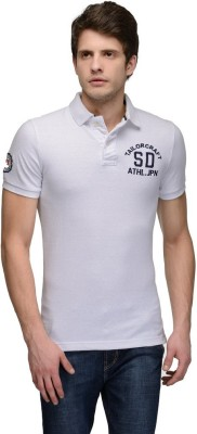 Tailor Craft Solid Men's Polo White T-Shirt