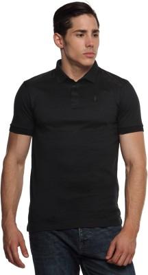 Arrow Newyork Solid Men's Polo Neck Grey T-Shirt