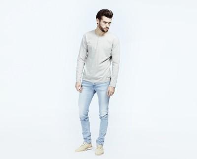 Voi Self Design Men's Round Neck T-Shirt