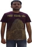 YDA Printed Men's Round Neck Brown T-Shi...