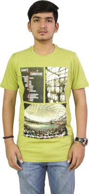 LIVE GREEN Graphic Print Men's Round Neck T-Shirt