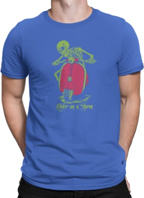 Stratton Stoffa Printed Men's Round Neck Blue T-Shirt