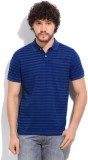 Gant Striped Men's Polo Blue T-Shirt