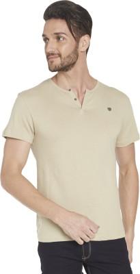 Globus Solid Men's Henley Beige T-Shirt