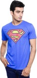 Superman Printed Men's Round Neck Blue T...