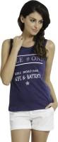 Alibi By Inmark Printed Women's Round Neck Blue T-Shirt best price on Flipkart @ Rs. 719