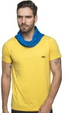 Enquotism Solid Men's Round Neck Yellow ...