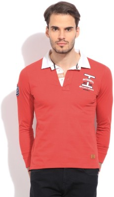 Integriti Solid Men's Polo Red T-Shirt