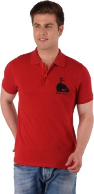 Vivekananda Youth Connect Printed Men's Round Neck Red T-Shirt