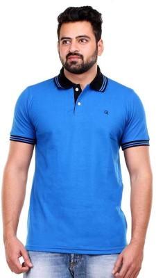 Clotone Solid Men's Polo Neck Blue T-Shirt