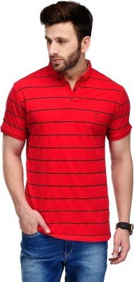 Ausy Striped Men's Polo T-Shirt