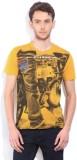 Wrangler Printed Men's Round Neck Yellow...