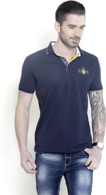 Metal Gear Solid Men's Polo Neck Blue T-Shirt