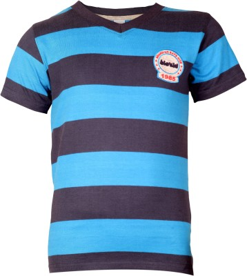 Bio Kid Striped Boy's V-neck Dark Blue T-Shirt