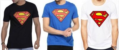 Sprat Graphic Print Men's Round Neck Black, Blue, White T-Shirt