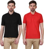 X-Cross Solid Men's Polo Neck Black, Red...