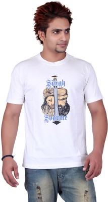 Punjabi Heritage Graphic Print Men,s Round Neck White T-Shirt