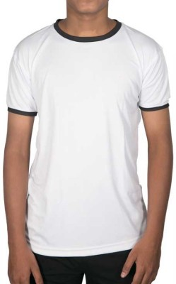 Obvio Striped Men's Round Neck White T-Shirt