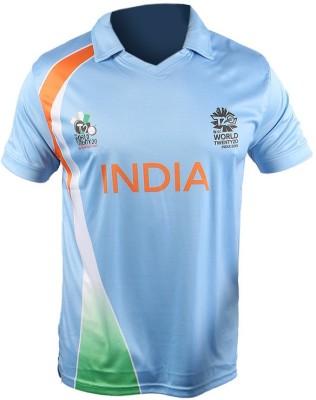 ICC WT20 Printed Men's Polo T-Shirt