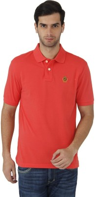 Fahrenheit Solid Men's Polo Neck Red T-Shirt