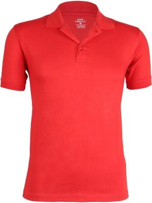 John Caballo Solid Men's Polo Red T-Shirt