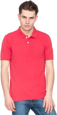 Kanva Solid Men's Polo Red T-Shirt