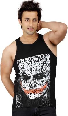 Stephen Armor Graphic Print Men's Round Neck Black T-Shirt