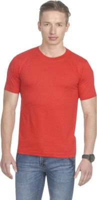 Fundoo-T Solid Men's Round Neck Red T-Shirt