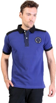 Seaboard Solid Men's Polo Neck T-Shirt