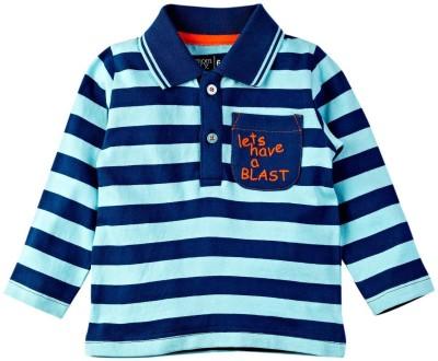 Mom & Me Printed Boy's Flap Collar Neck Multicolor T-Shirt