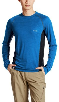 Rab Solid Men's Round Neck Blue T-Shirt