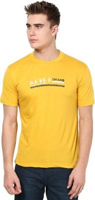 Okane Printed Men's Round Neck Gold T-Shirt